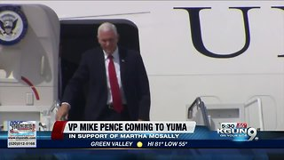 Vice President Mike Pence to stump for McSally at Yuma rally - Video