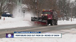 Storm dumps more than 30 inches of snow on parts of Western New York - Video