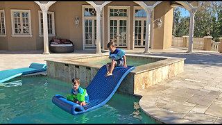 Creative Little Brothers Engineer their own Water Slide