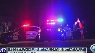 Pedestrian hit, killed by car in West Palm Beach