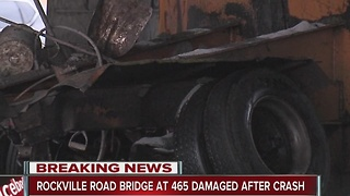 Vehicle crashes into overpass, NB I-465 closed on west side - Video