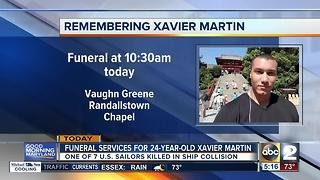 Funeral in Randallstown for Xavier Martin - Video