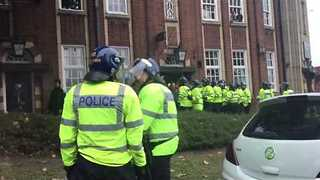 Police Move to Disperse Birmingham Fans After Villa Derby - Video