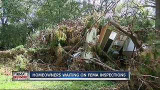 Woman living in tent for weeks waiting for FEMA help after home destroyed by Irma - Video