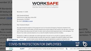 Push for more COVID-19 protection for employees