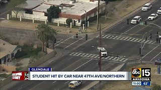 Apollo High School student hit by car in Glendale