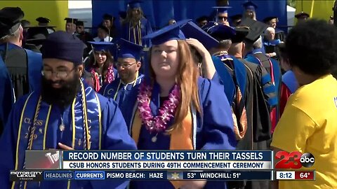 Mother of graduating CSUB student who passed away gets standing ovation