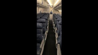 Traveling during covid-19 in an empty airplane