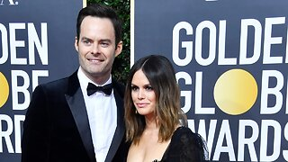 Bill Hader And Rachel Bilson Showoff Relationship At Golden Globes