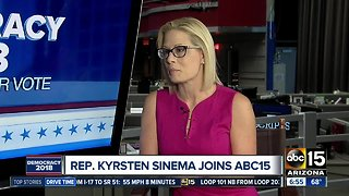 Kyrsten Sinema talks Senate race with ABC15