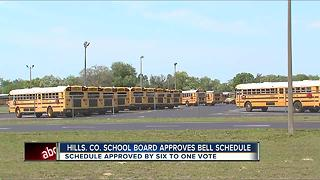 Hillsborough Co. School District approves proposed bell schedule for 2018-2019 - Video