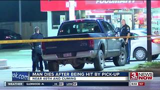 Omaha man dies after being hit by pickup - Video
