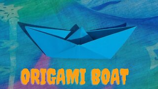 How to make origami boat - easy