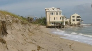 Severe erosion at Bathtub Beach - Video