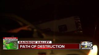 Storm leaves behind destruction in Rainbow Valley - Video