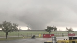 Large Tornado Strikes East of New Orleans - Video