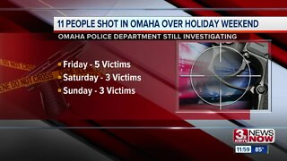 11 people shot in Omaha over holiday weekend