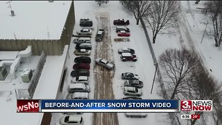 3 News Now drone captures before-and-after video of snowstorm