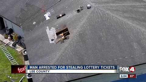 Suspect drops in through roof to steal lottery tickets