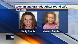 Oak Creek Police: Missing granddaughter found safe, grandmother arrested - Video