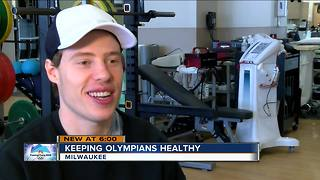 Team USA speed skaters training at Froedtert Sports Medicine Center ahead of Winter Games - Video