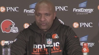 Hue Jackson gets emotional after loss