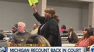 Federal judge to rule on Michigan recount - Video