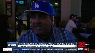 Bakersfield Dodgers fans react to game one of World Series - Video