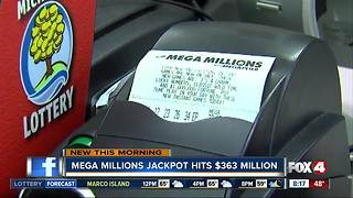 Tuesday night's Mega Millions drawing could bring $363M jackpot - Video