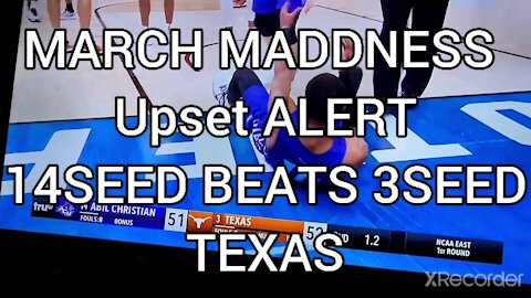 MARCH MADDNESS UPSET ALERT ABILINE BEATS TEXAS