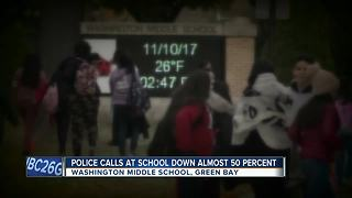 Police calls down at middle school nearly 50 percent - Video