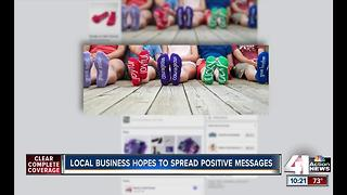 Local woman spreading positivity through socks aims to win global competition - Video