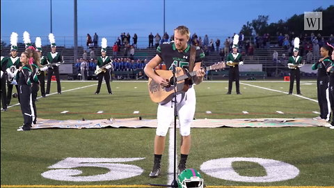 High School Senior Goes Viral, Sings Incredible Rendition of National Anthem Before Taking Field