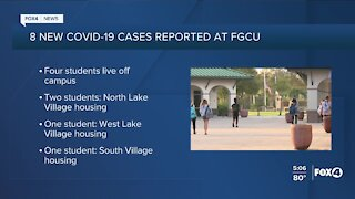 8 new COVID-19 cases reported at FGCU