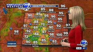 90s will settle in Denver through the weekend