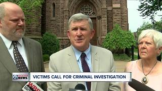 Sexual abuse victims call for bishops' resignations, criminal investigation of Buffalo diocese - Video