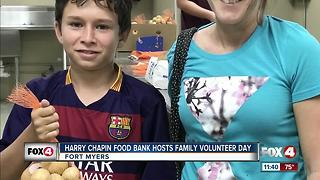 Harry Chapin Food Bank Hosts Family Volunteer Day - Video