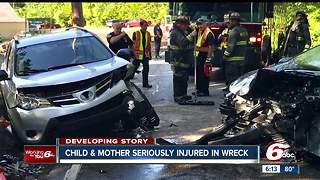 2 adults, 1 child seriously hurt in Wayne Township head-on crash - Video