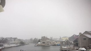 Thundersnow Rumbles Across Jersey Shore During Nor'easter - Video