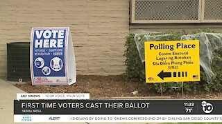 First-time voters cast their ballot