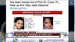 Jada Hallums: 16-year-old girl missing in Port St. Lucie - Video