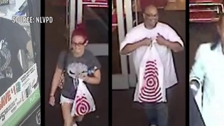 North Las Vegas police seek suspects in burglary - Video