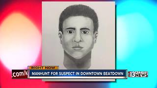 Police release sketch of beating suspect - Video
