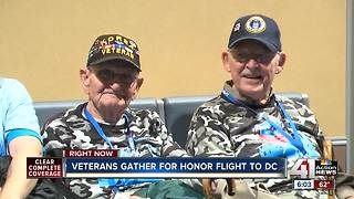 More than 50 local veterans take Honor Flight to D.C. memorials in their honor - Video