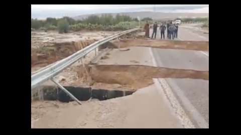Fatalities as Flooding Damages Bridge, Roads in Tunisia