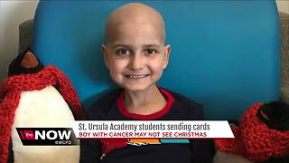St. Ursula Academy students send Christmas cards to boy with terminal cancer - Video