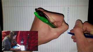 Man Simultaneously Writes Alphabet Two-Handed - Video