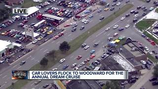 Car lovers flock to Woodward for the annual Dream Cruise - Video