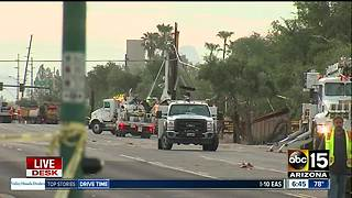 Shea Boulevard shut down for storm cleanup - Video