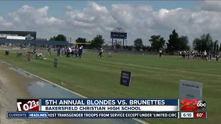 5th annual Blondes VS. Brunettes football game to raise awareness of Alzheimer's disease - Video